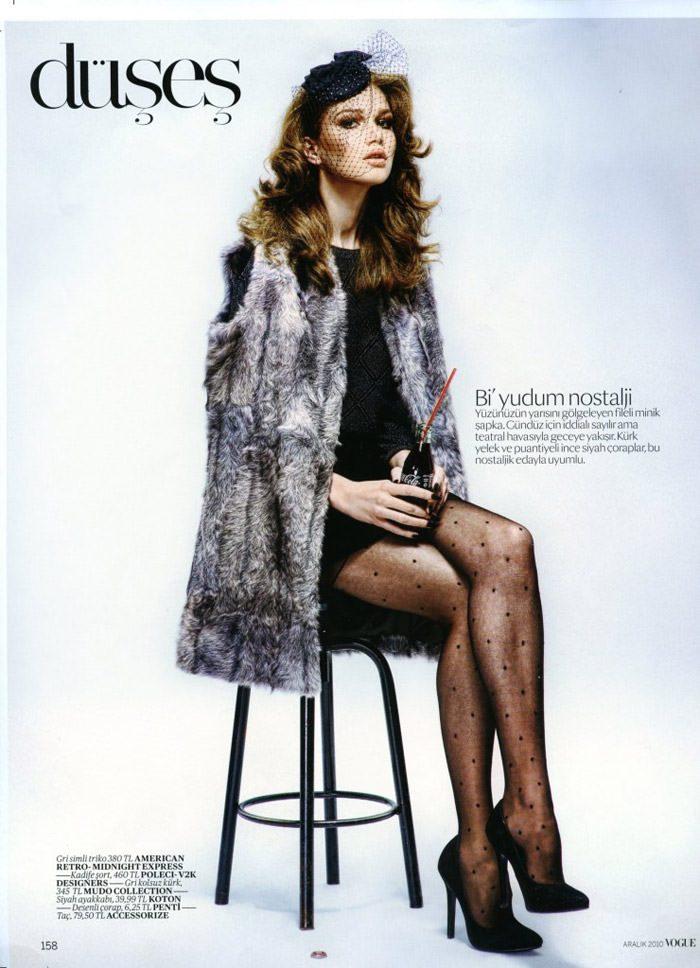 """Elena Lomkova photographed by Emre Dogru in """"Stüdyo 54"""" for Vogue Türkiye, December 2010 5"""