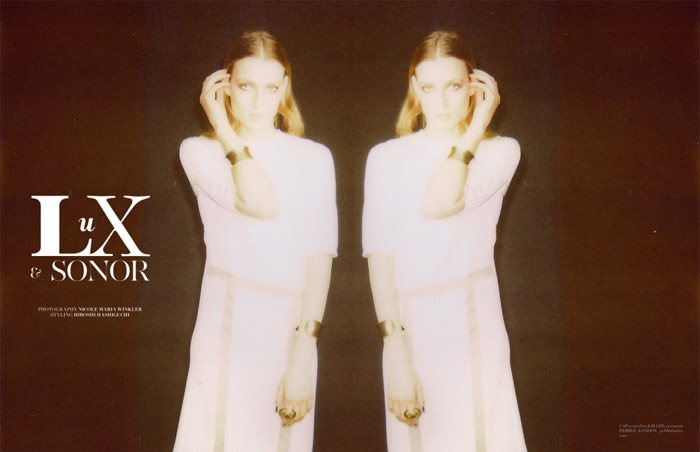 """""""Lux Et Sonor"""" photographed by Nicole Maria Winkler for The Ones 2 Watch, Issue #09 2"""