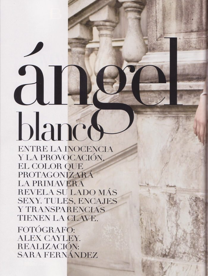 "Constance Jablonski photographed by Alex Cayley in ""Ángel Blanco"" & ""Revolución Francesa"" for Vogue España, February 2011 3"
