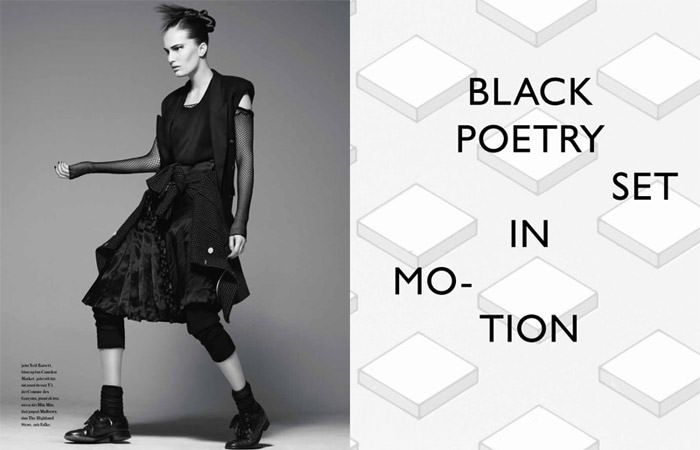 "Alla Kostromichova photographed by Ben Weller in ""Dancing In The Dark"" for Bon, Spring / Summer 2011 4"