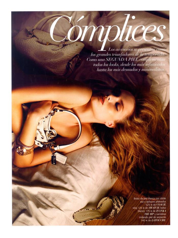 """Patrycja Walczak photographed by Rafa Gallar in """"Cómplices"""" for Vogue España, April 2011 4"""
