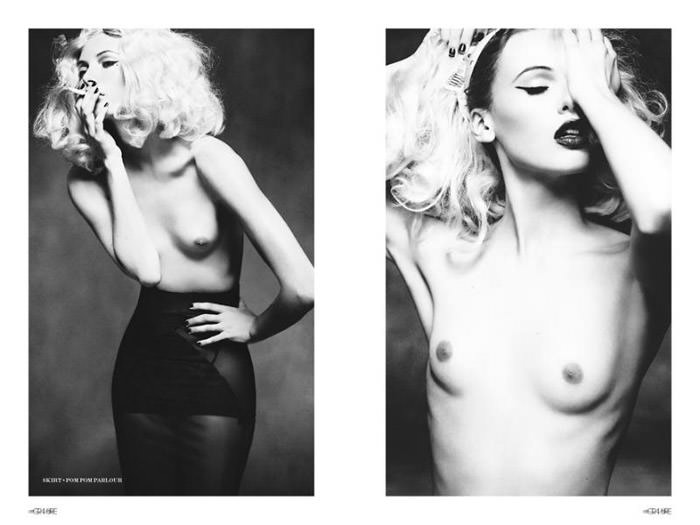 """Mona Johannesson photographed by Honer Akrawi in """"Mona"""" for Gravure 9"""