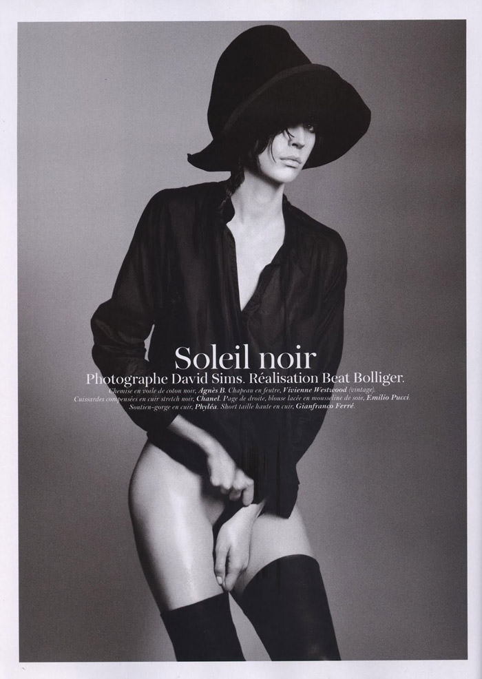 "Raquel Zimmermann photographed by David Sims in ""Soleil Noir"" for Vogue Paris, June 2011 1"