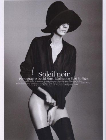 """Raquel Zimmermann photographed by David Sims in """"Soleil Noir"""" for Vogue Paris, June 2011 2"""