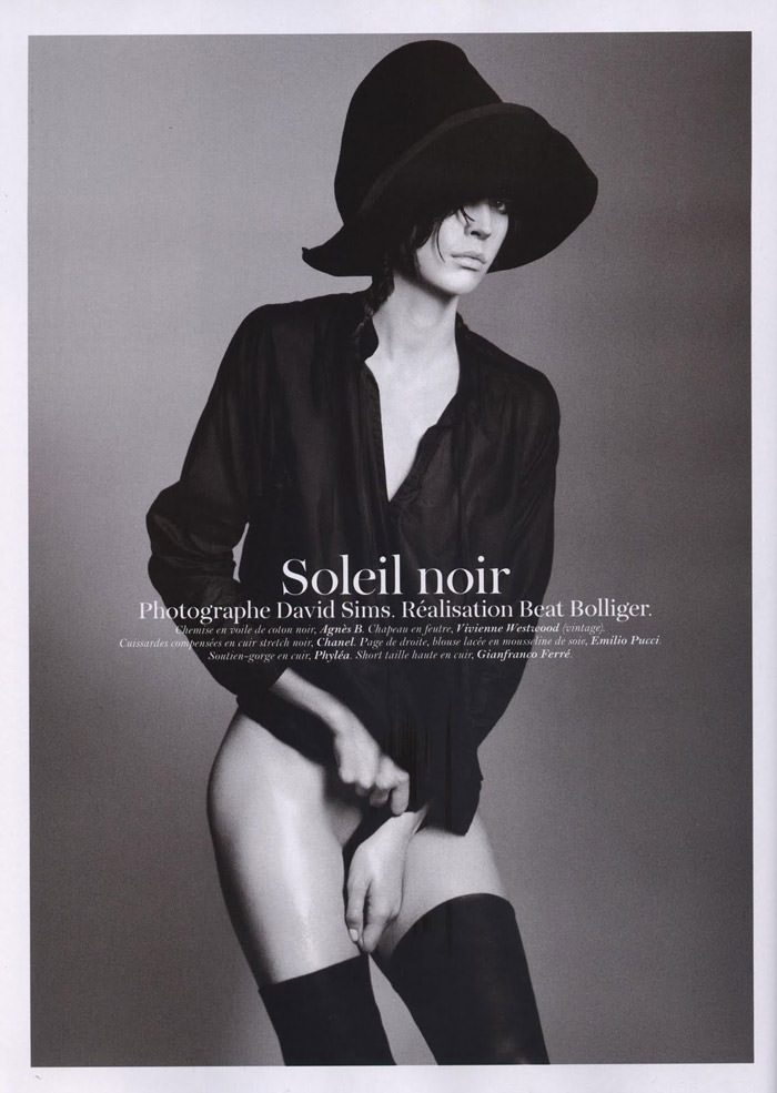 "Raquel Zimmermann photographed by David Sims in ""Soleil Noir"" for Vogue Paris, June 2011 2"