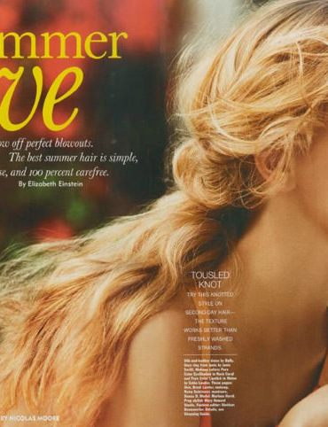 """Marloes Horst photographed by Nicolas Moore in """"Summer Love"""" for Allure, June 2011 3"""