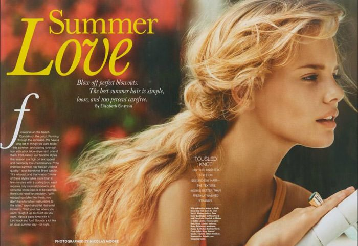 "Marloes Horst photographed by Nicolas Moore in ""Summer Love"" for Allure, June 2011 2"