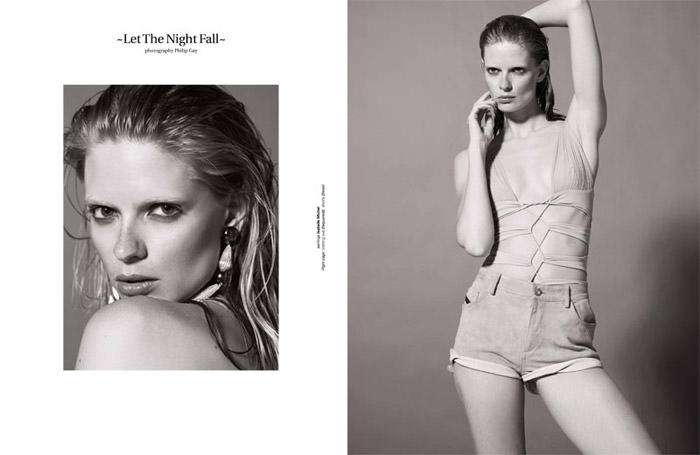 """Julia Stegner photographed by Philip Gay in """"Let The Night Fall"""" for Zoo Magazine, Summer 2011 2"""