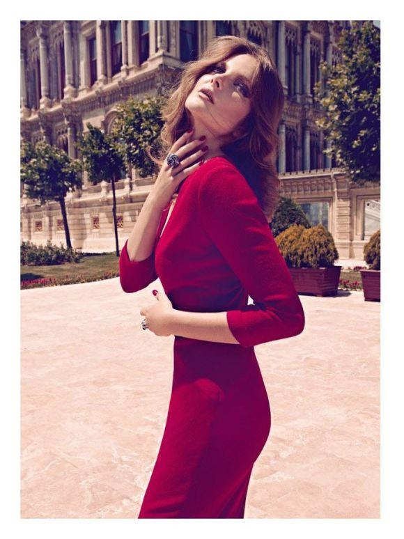 Eniko Mihalik by Koray Birand for Harper's Bazaar Turkey