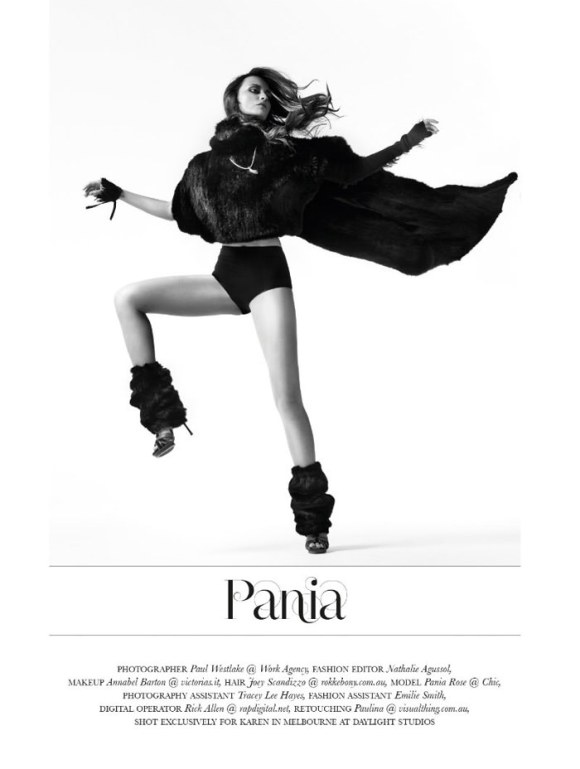 Pania Rose by Paul Westlake for Karen Magazine