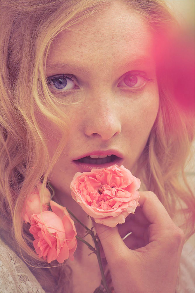 "Eliisa Raats photographed by Perla Maarek in ""Follow The Roses"" for Fine Taste #8, Summer 2011"