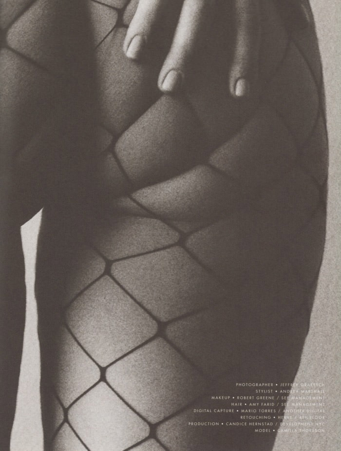 Camilla Thorsson by Jeffrey Graetsch for S Magazine