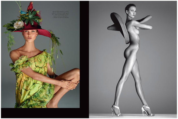 Karlie Kloss NUDE by Steven Meisel for Vogue Italy