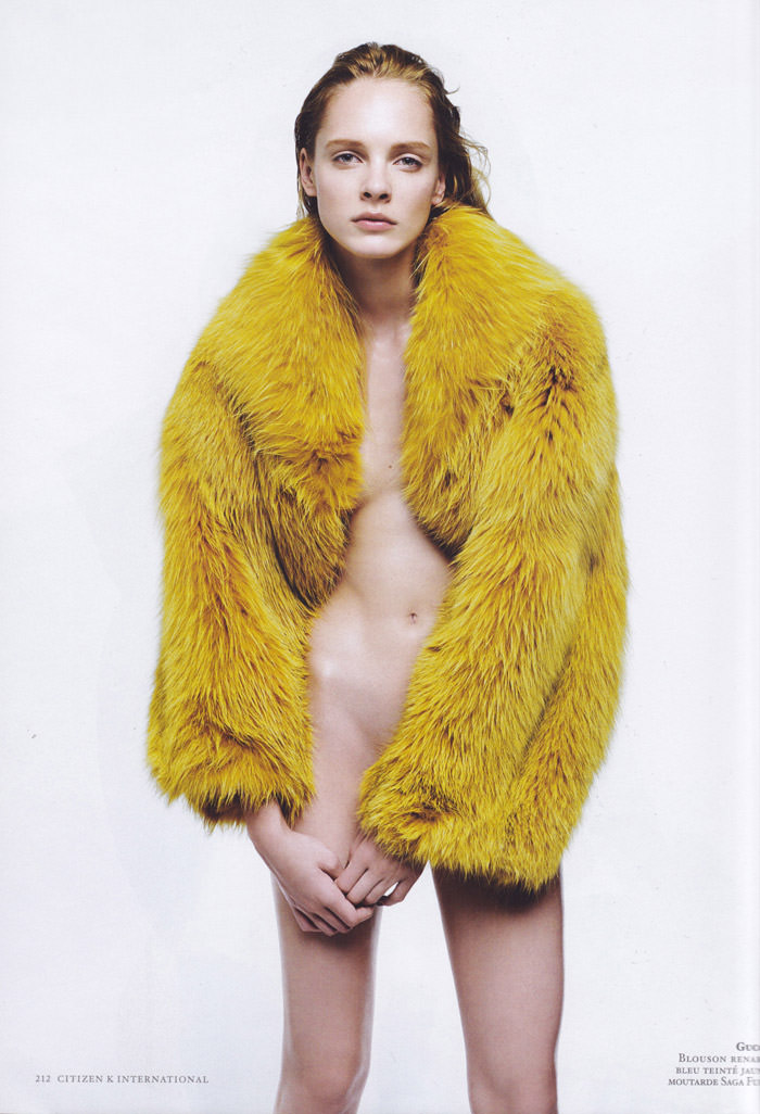 Jules Mordovets photographed by Gregory Derkenne for Citizen K, Fall 2011
