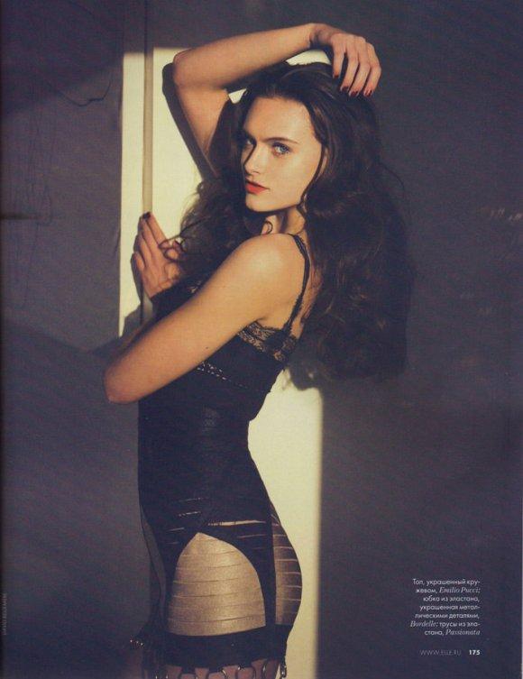 Zuzana Gregorova by David Bellemere for Elle Russia