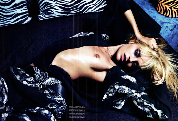 """Candice Swanepoel photographed by Mario Sorrenti in """"Be Bold"""" for Vogue Italia, March 2012"""
