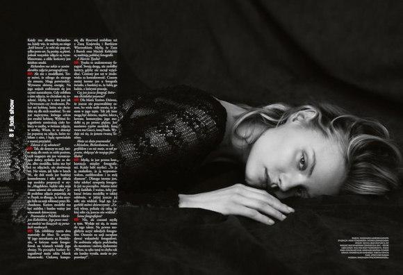 Magdalena Frackowiak by Magdalena Luniewska for Fashion Magazine Poland
