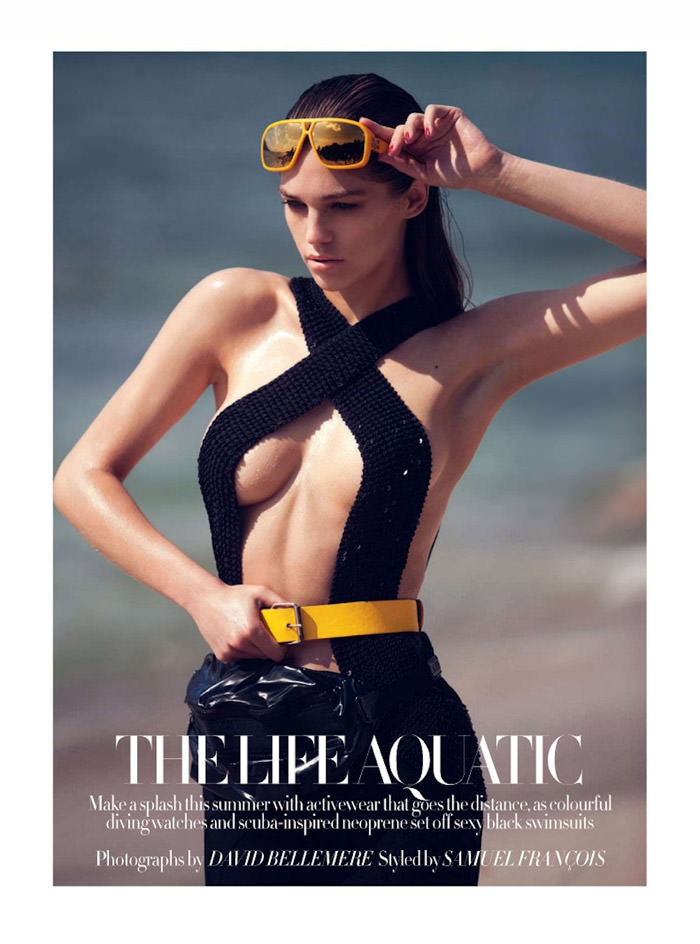 Samantha Gradoville by David Bellemere for Harper's Bazaar UK