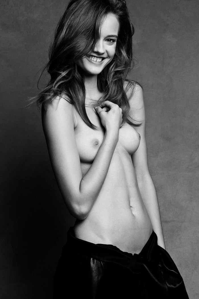 Monika Jagaciak (topless / semi-nude) by Victor and Patrick Demarchelier