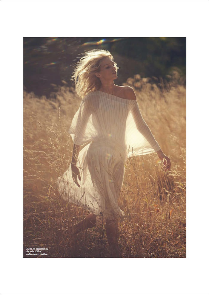 Anja Rubik photographed by David Bellemere for Vogue Paris, November 2012