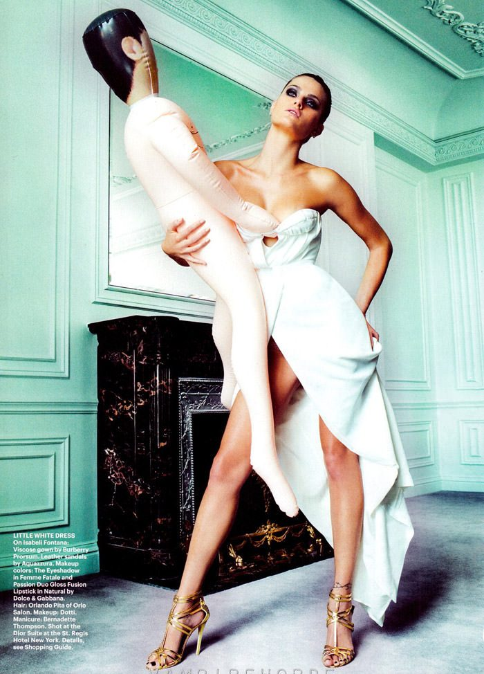 Isabeli Fontana by Mario Testino for Allure