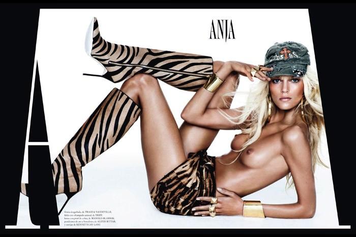 Anja Rubik by Mario Testino for Vogue Spain