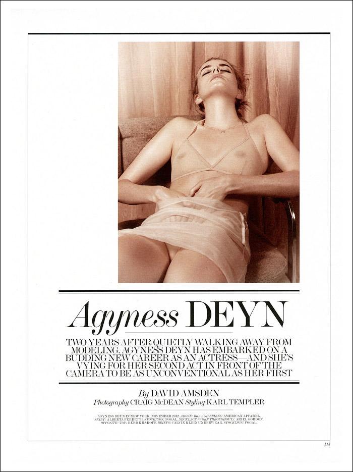 Agyness Deyn by Craig McDean for Interview Magazine