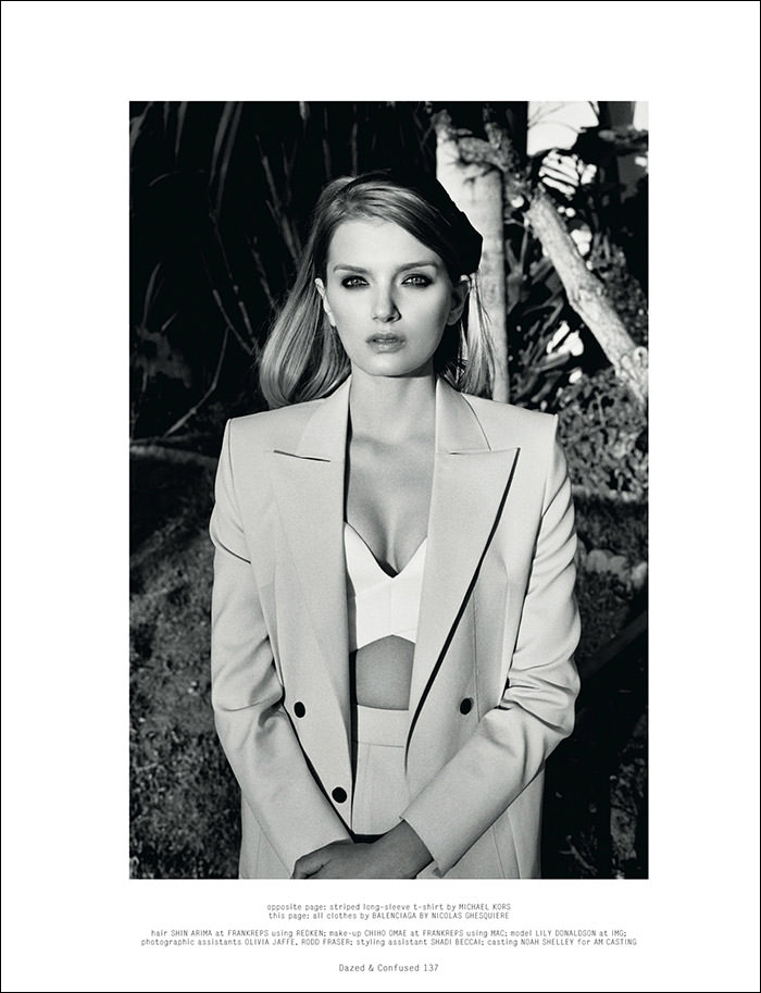 Lily Donaldson photographed by Max Farago for Dazed & Confused, February 2013