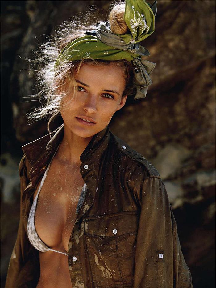 Edita Vilkeviciute by Gilles Bensimon for Vogue Paris