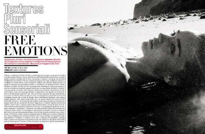 Miranda Kerr by Greg Kadel for Vogue Italy