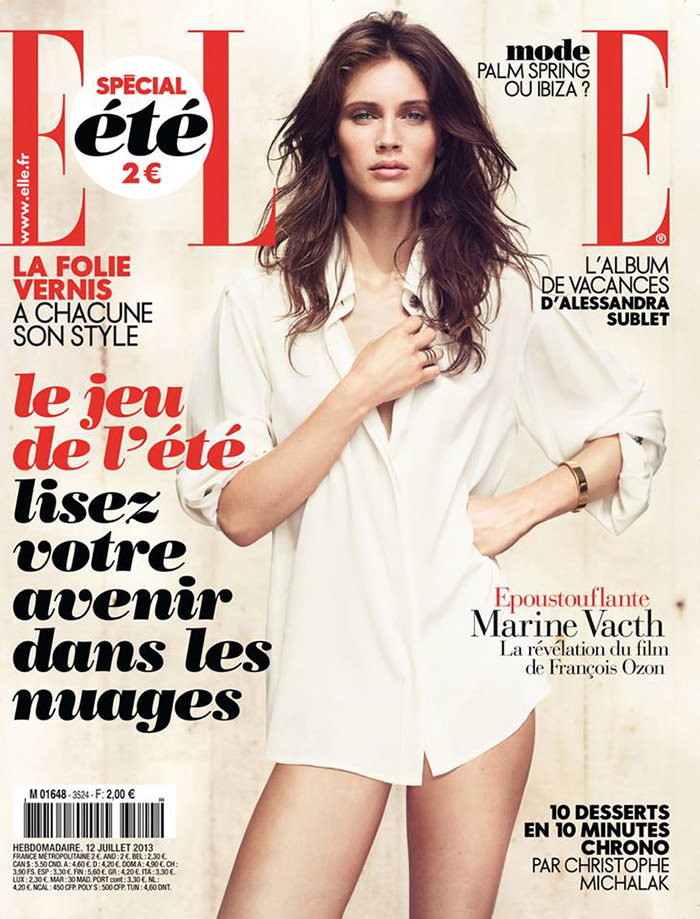 Marine Vacth covers Elle France, July 2012