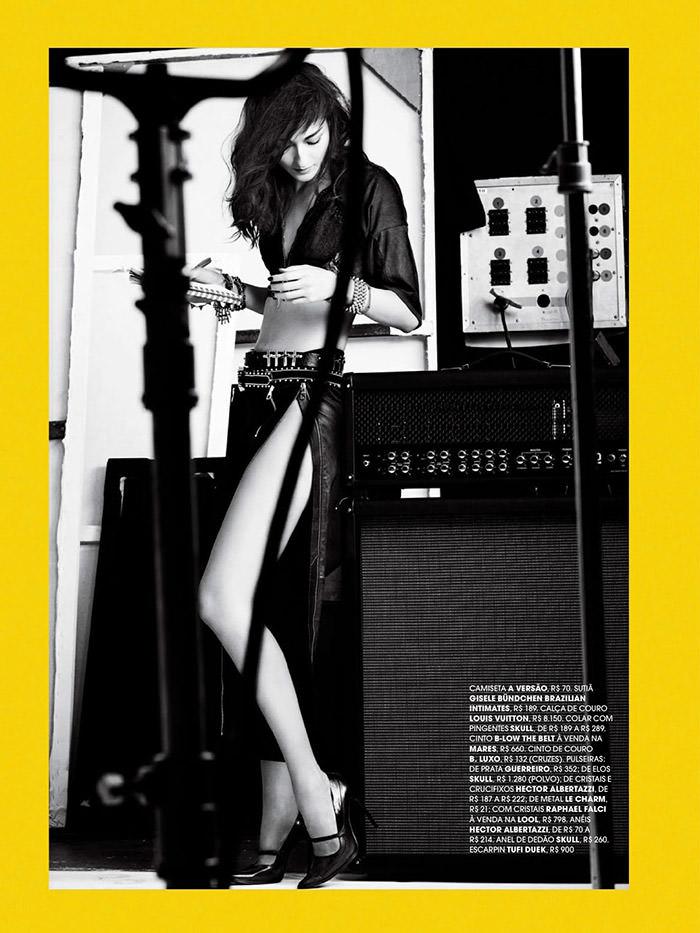 Bruna Tenorio by Nicole Heiniger for Marie Claire Brasil, August 2013