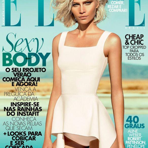 Aline Weber covers Elle Brazil 1
