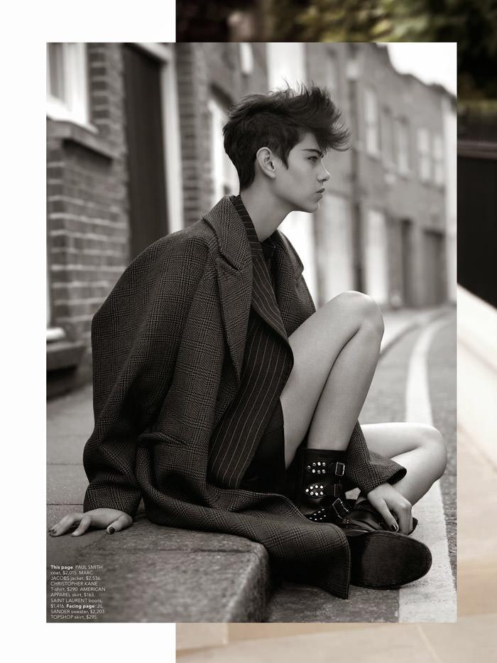 Amra Cerkezovic photographed by Ben Weller for Miss Vogue Australia