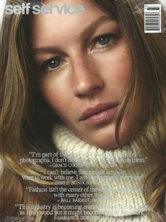 Gisele Bundchen covers Self Service