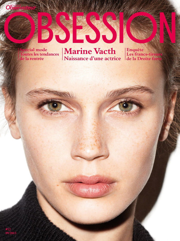 Marine Vacth covers Obsession Magazine