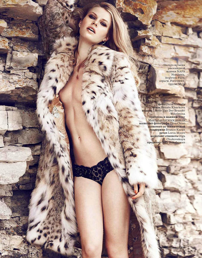 Lisette Van Den Brand photographed by Chris Nicholls for Elle Russia, November 2013