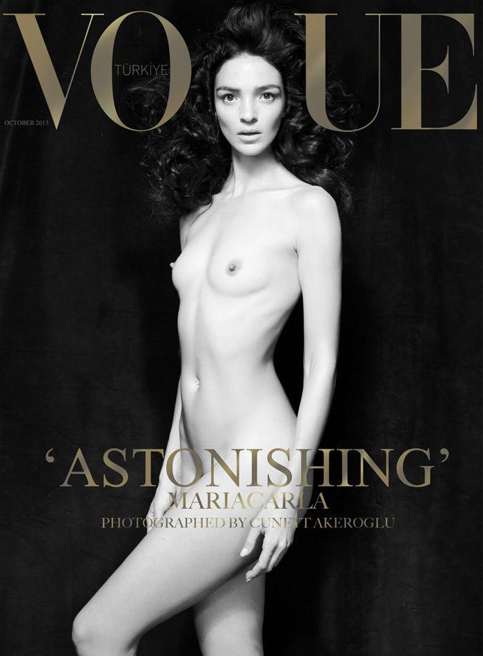 Mariacarla Boscono covers Vogue Turkey