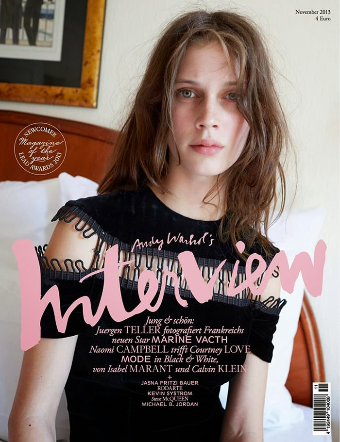 Marine Vacth by Juergen Teller for Interview Germany