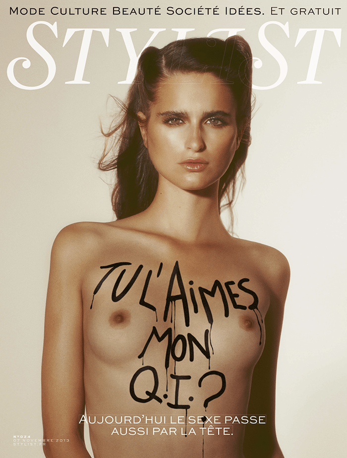 Loulou Robert covers Stylist Magazine