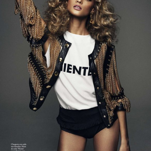 Anna Selezneva by Xavi Gordo for Elle Spain