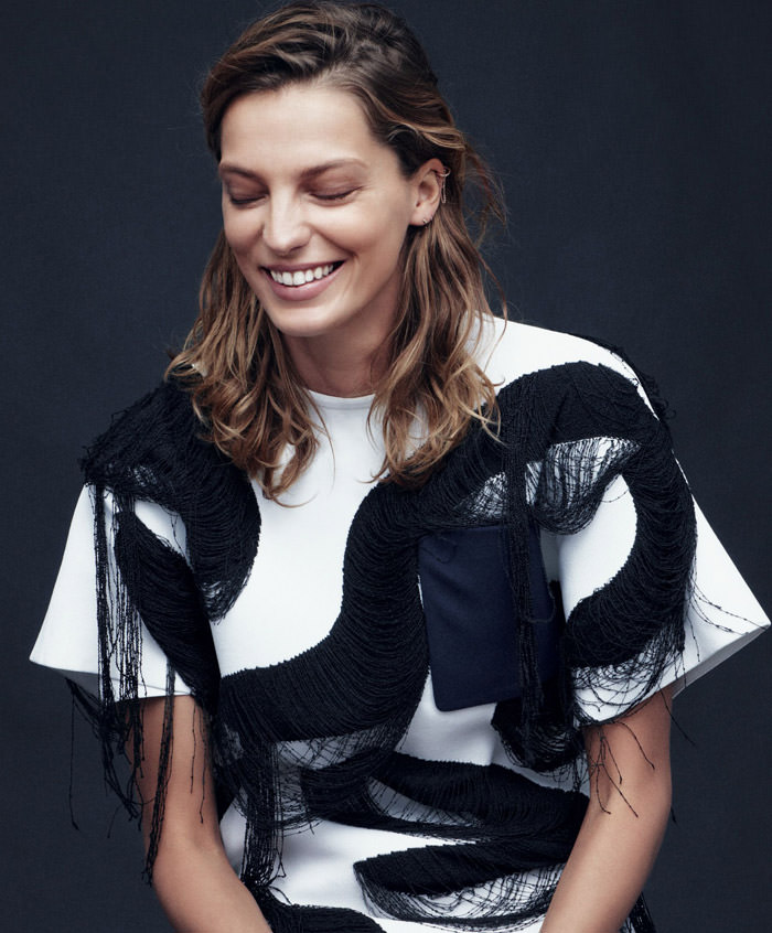 Daria Werbowy photographed by Daniel Jackson for Harper's Bazaar, February 2014