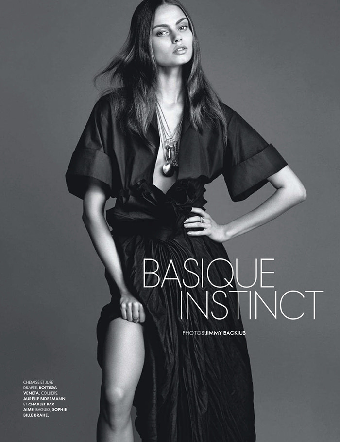 Aiste Regina Kliveckaite by Jimmy Backius for Elle France