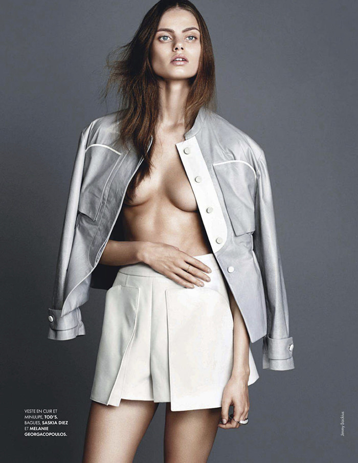 Aiste Regina Kliveckaite photographed by Jimmy Backius for Elle France, February 2014