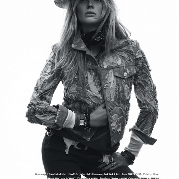 Anna Vyalitsyna by Jan Welters for Elle France