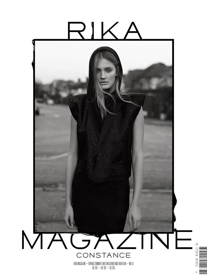 Constance Jablonski covers Rika Magazine