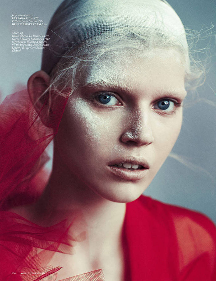 Ola Rudnicka photographed by Boe Marion for Vogue Netherlands, April 2014