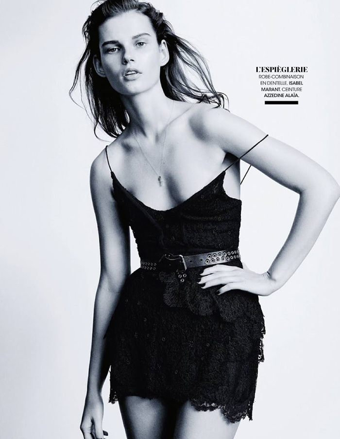 Giedre Dukauskaite photographed by Pamela Hanson for Madame Figaro, March 2014