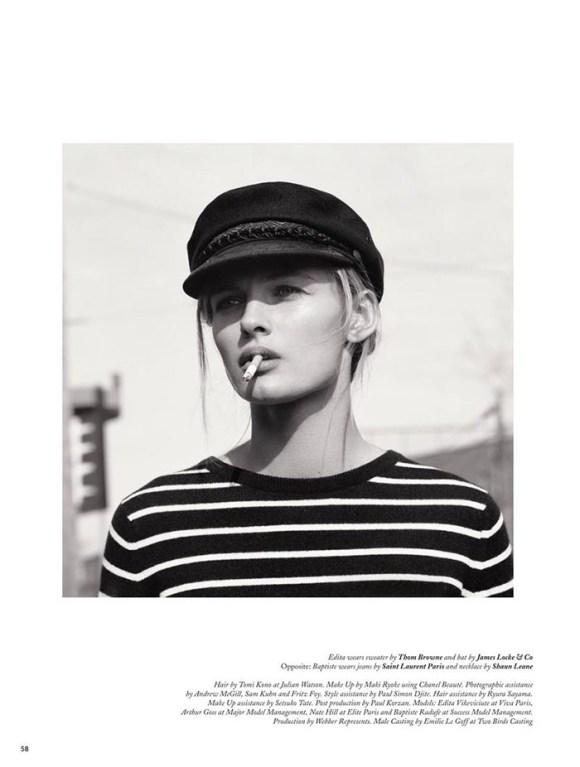Edita Vilkeviciute by Mark Peckmezian for Holiday Magazine