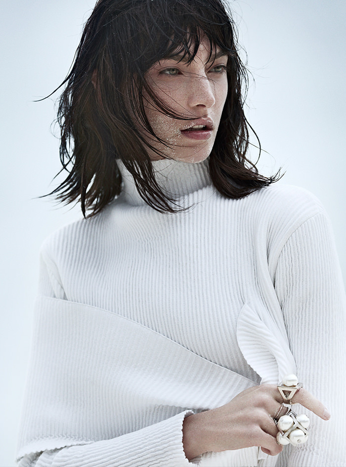 Jacquelyn Jablonski photographed by Emma Tempest for Vogue Russia, June 2014